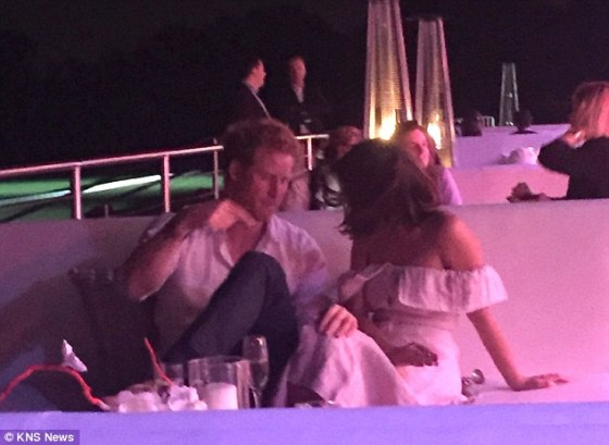 Photos: Prince Harry spotted getting cosy with actress at ...
